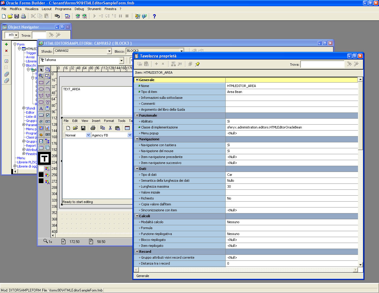 oracle forms html editor