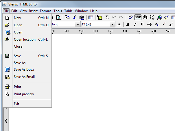 open save docx file java html editor